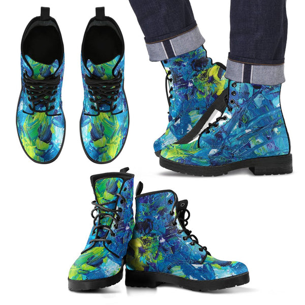 Abstract Oil Paintings P3 - Vegan Leather Boots