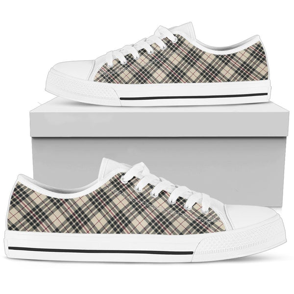 Blackberry Tartan - Low Top Canvas Shoes