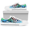 Ocean Waves Multi - Men's Low Top Shoes (White)