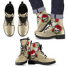 Skull Couple Roses (Soybean) - Vegan Leather Boots
