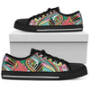 Funky Patterns (Rainbow) - Low Top Canvas Shoes
