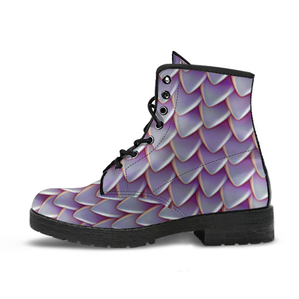 Fantasy Dragon Scales (Pastel) - Vegan Leather Boots