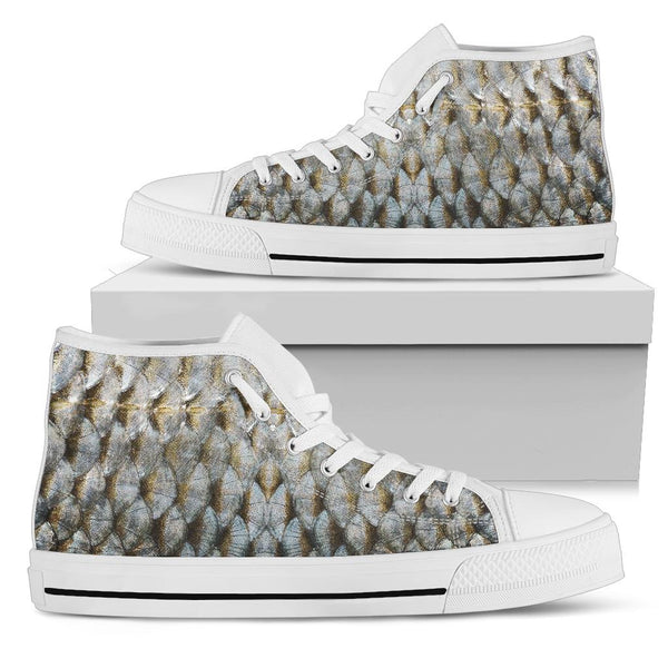 Fish - High Top Canvas Shoes