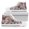 Funky Patterns in Pinks - Women's High Top Shoes (White)