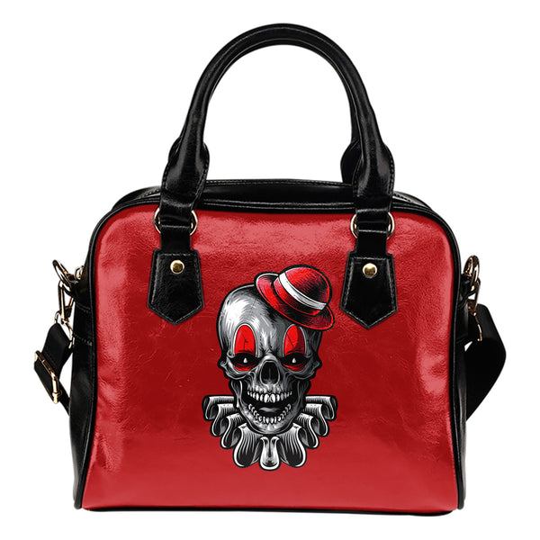 Clown Skull (Red) - Boston Handbag