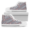 Every Which Way Print - Women's High Top Shoes (White)