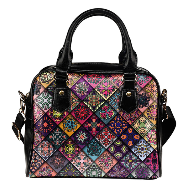 Diamond Mandala P6 - Boston Handbag