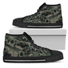 Dark Camo Skulls - Women's High Top Shoes (Black)