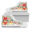 For the Love of Rabbits - Women's High Top Shoes (White)