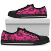 Pink Roses - Low Top Canvas Shoes