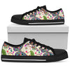 Butterfly Beige Garden - Women's Low Top Shoes (Black)