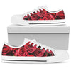 Red Roses - Low Top Canvas Shoes