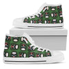 Joker Skull (Green) - High Top Canvas Shoes