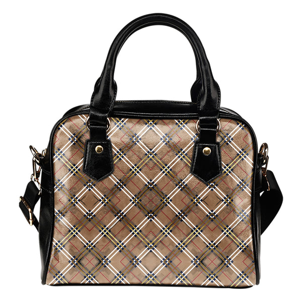 Autumn Fall Plaid - Boston Handbag
