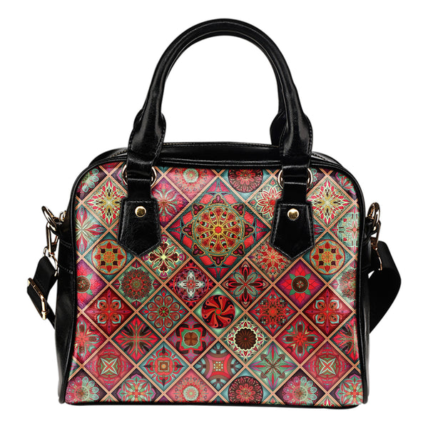 Diamond Mandala P3 - Boston Handbag