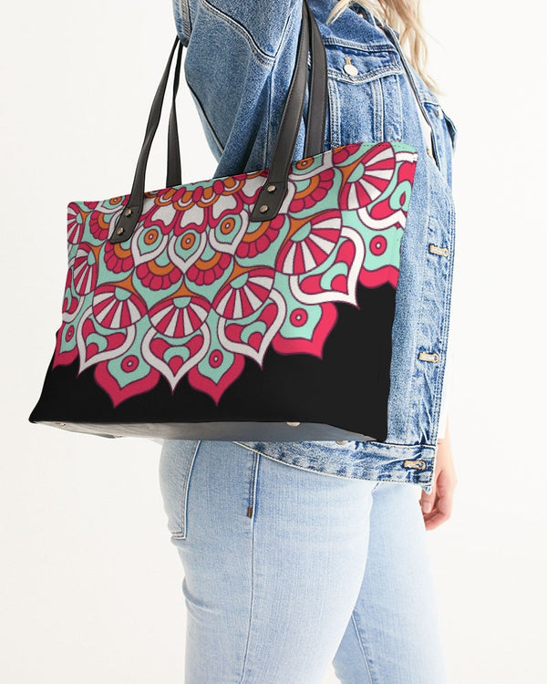 Scalloped Mandala P7 - Stylish Tote