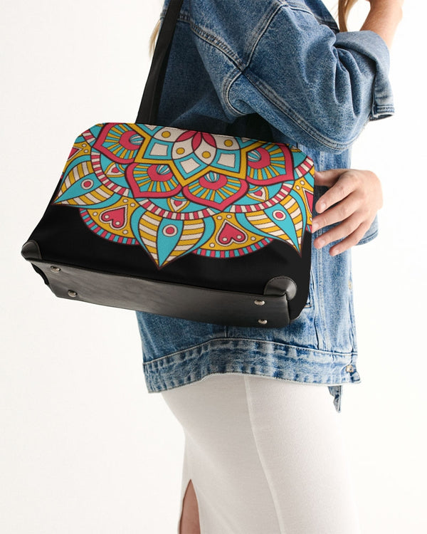 Scalloped Mandala P12 - Shoulder Bag