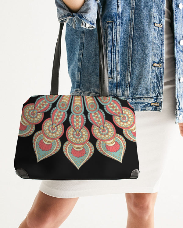Scalloped Mandala P3 - Shoulder Bag