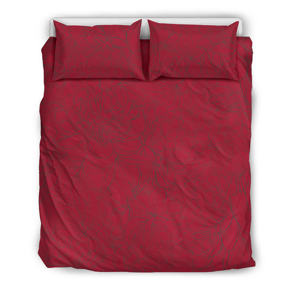 Vintage Floral Sketch (Jester Red) - Bedding Sets