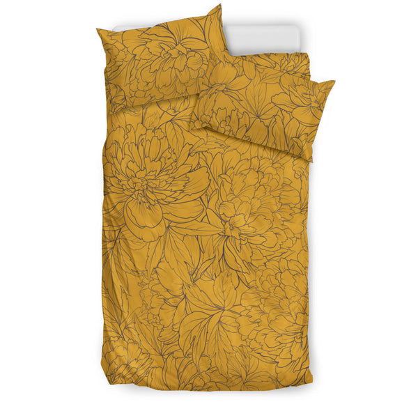 Vintage Floral Sketch (Mango Mojito) - Bedding Sets