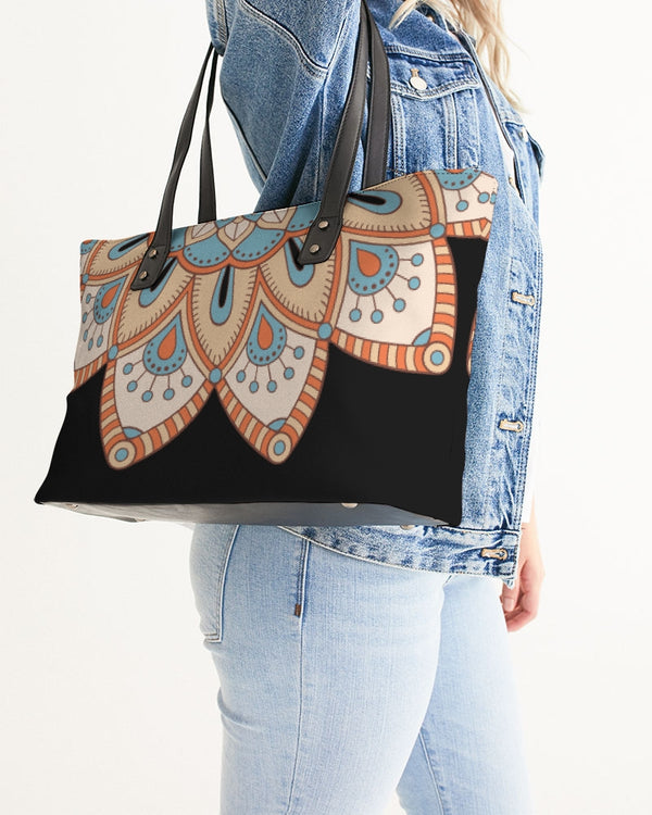 Scalloped Mandala P8 - Stylish Tote