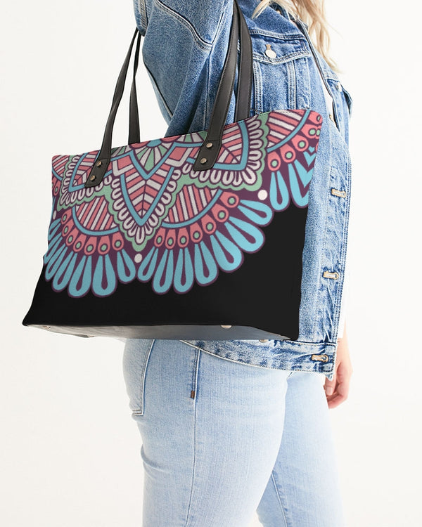 Scalloped Mandala P6 Stylish Tote