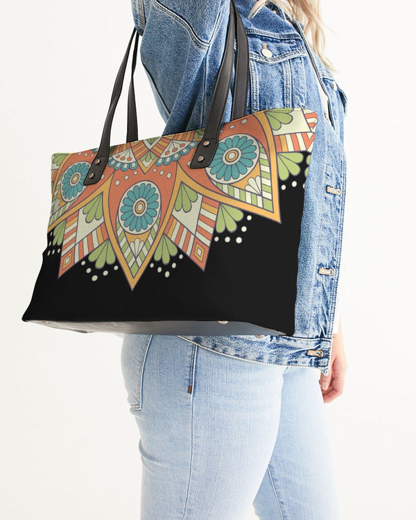 Scalloped Mandala P1 - Stylish Tote