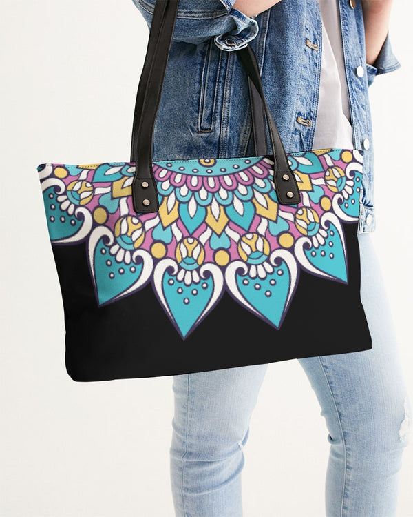 Scalloped Mandala P4 - Stylish Tote