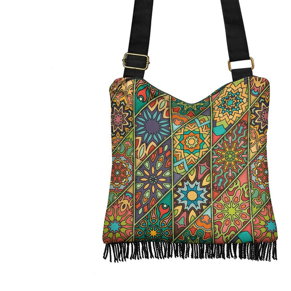 Diamond Mandala P2 - Crossbody Boho Bag