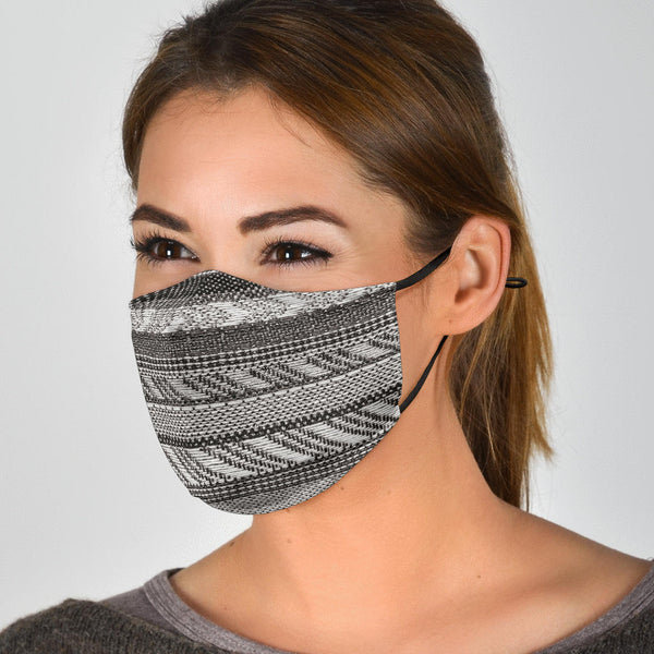 Boho Stripe (Fuscous Gray) - Face Mask
