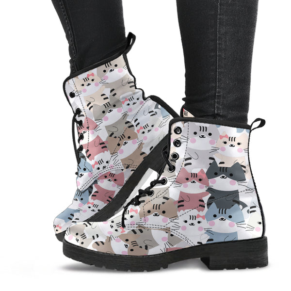 Kitty Cat Couples P1 - Vegan Leather Boots