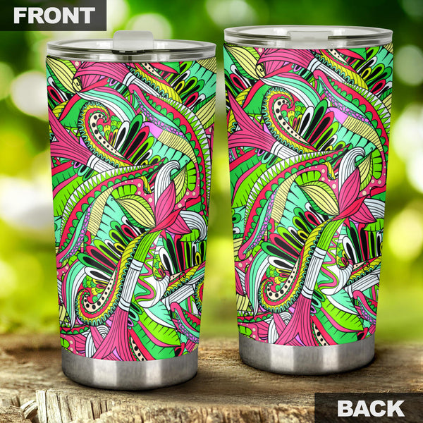 Funky Patterns (Rainbow) - Travel Tumbler