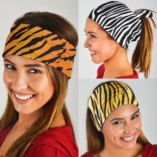 Animal Print Pop Art (Lion, Tiger, Zebra) - Bandana 3 Pack