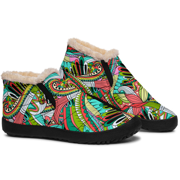 Funky Patterns (Rainbow) - Winter Ankle Casuals