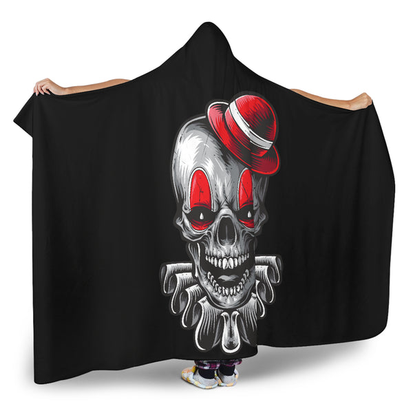Clown Skull (Black) - Hooded Blankets