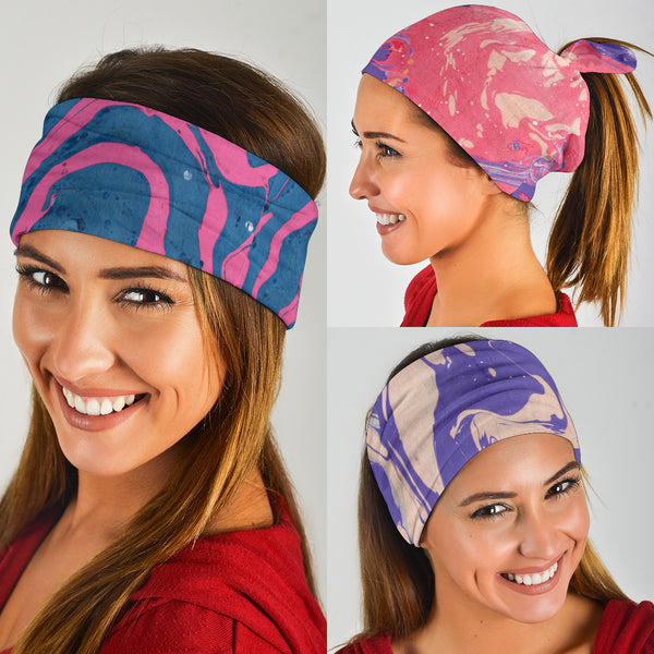 Marble Swirls Set 3 - Bandana 3 Pack