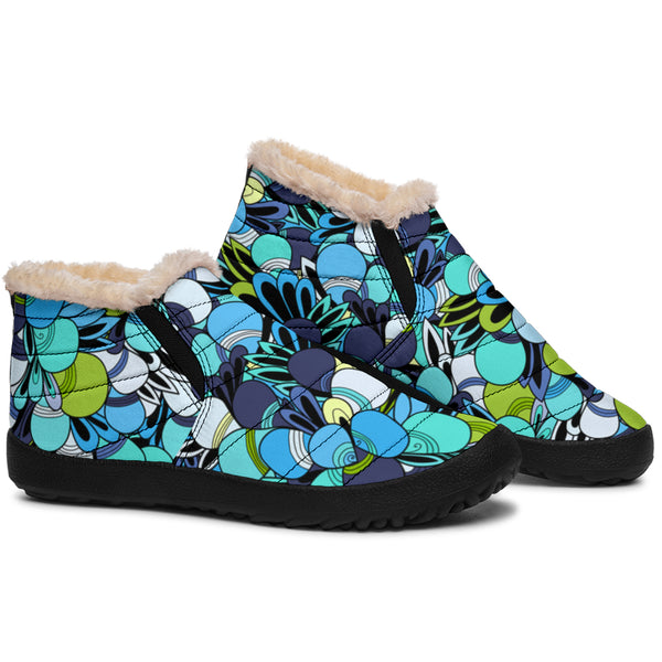 Funky Patterns (Blues) - Winter Ankle Casuals