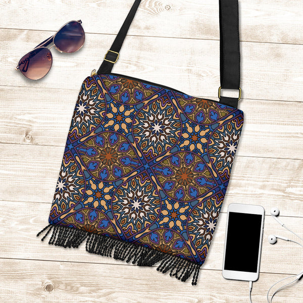 Diamond Mandala P9 - Crossbody Boho Bag