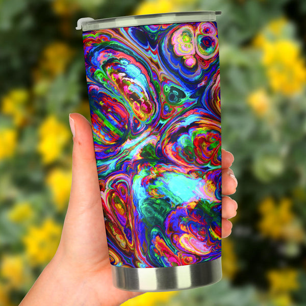 Abstract Oil Paintings P1 - Travel Tumbler