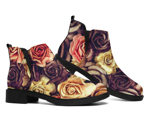 Vintage Roses Dried - Suede Boots
