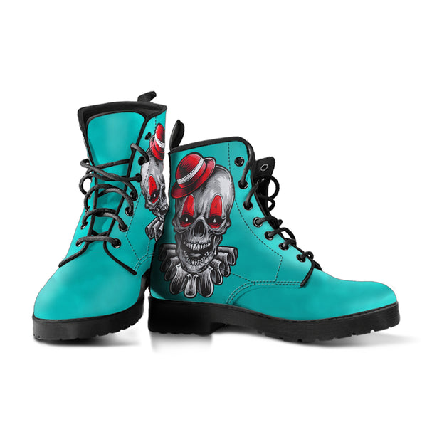Clown Skull (Tiffany Girl) - Vegan Leather Boots