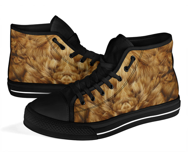 Lion - High Top Canvas Shoes