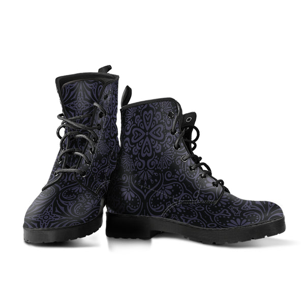 Bohemian Eclipse (Black) - Vegan Leather Boots