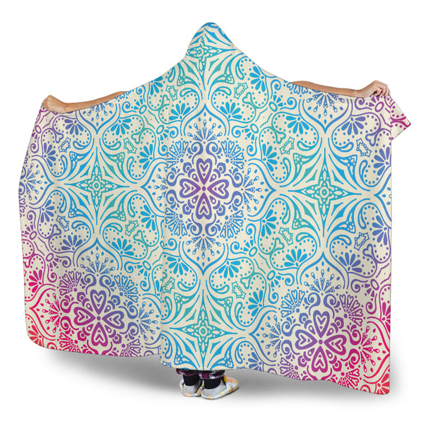 Bohemian Blue Ombre (Sweet Corn) - Hooded Blankets
