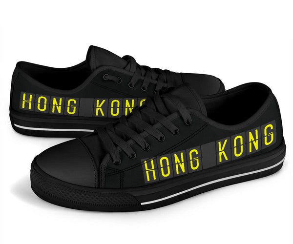 Airport Destinations HONG KONG - Low Top Canvas Shoes