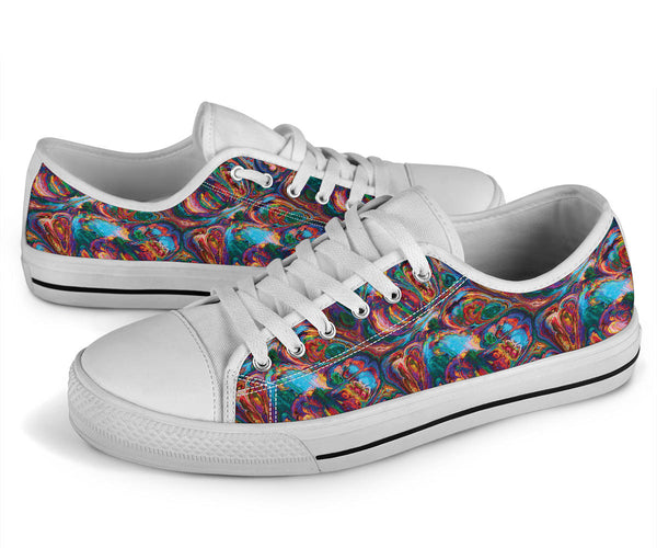 Abstract Oil Paintings P1 - Low Top Canvas Shoes