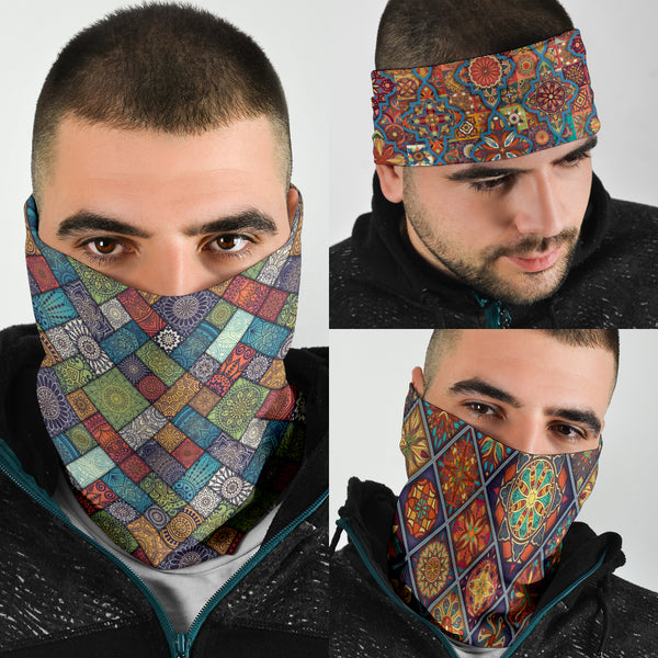 Diamond Mandalas Mix 5 - Bandana 3 Pack