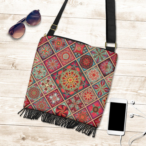 Diamond Mandala P3 - Crossbody Boho Bag