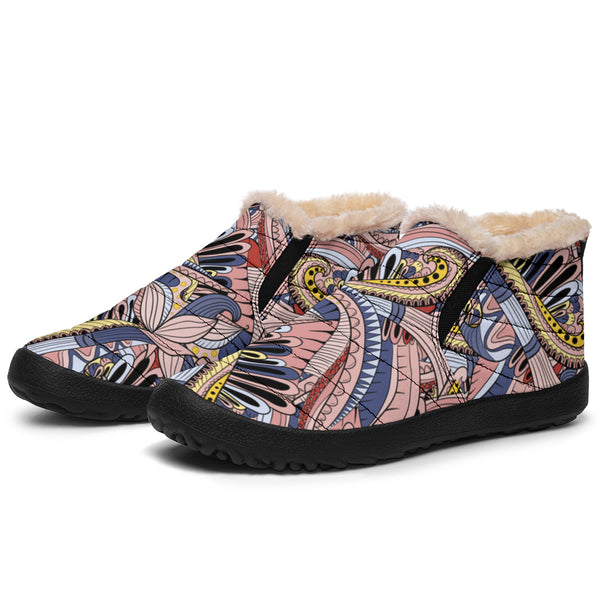 Funky Patterns (Pinks) - Winter Ankle Casuals