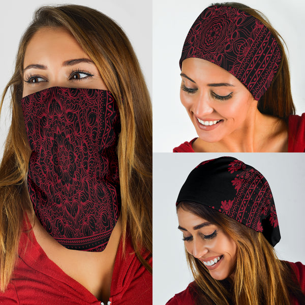 Jester Red Scarves Set - Bandana 3 Pack